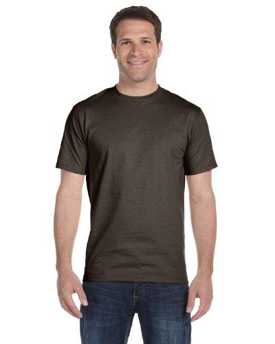 Dark Adult Chocolate (Hanes Beefy-T Adult Short-Sleeve T-Shirt_Dark Chocolate_2XL)
