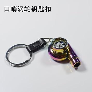 XiaoGao_ Auto piezas clave de la cadena,Silbido Turbo llavero: Amazon.es: Deportes y aire libre