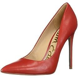 Sam Edelman Women's Danna Pump, Candy red Leather, 8.5 M US