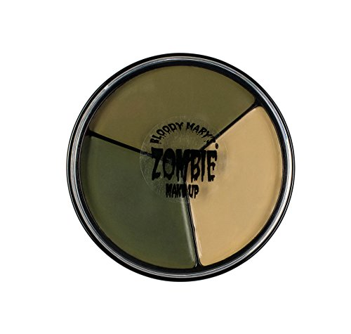 Tri Color Zombie Foundation Wheel For Theater, Costume, Halloween By Bloody Mary