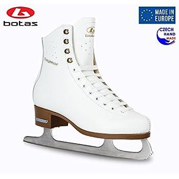 Image of Botas - Model: Dagmar/Made in Europe (Czech Republic) / Figure Ice Skates for Women, Girls, Kids/Sabrina Blades/White Color Figure Skates