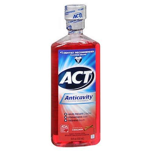 ACT Anticavity Fluoride Rinse Cinnamon 18 oz (Pack of 4)