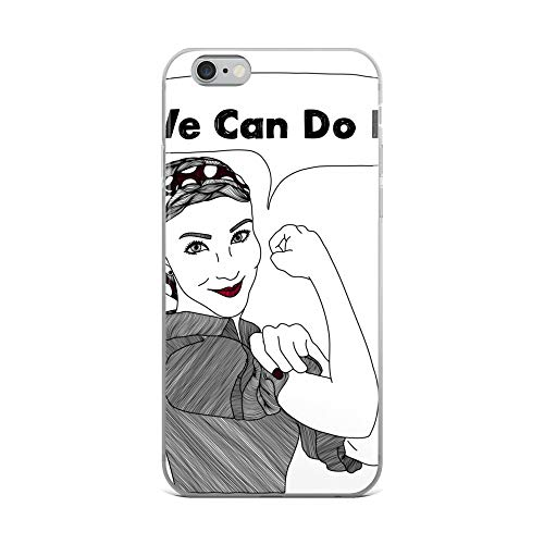 iPhone 6 Plus/6s Plus Case Anti-Scratch Motion Picture Transparent Cases Cover We Can Do It | Women Power Movies Video Film Crystal Clear -