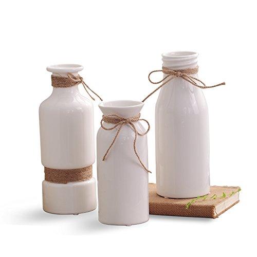 ZHFC-Florero de ceramica blanca de la vida moderna, minimalista ...