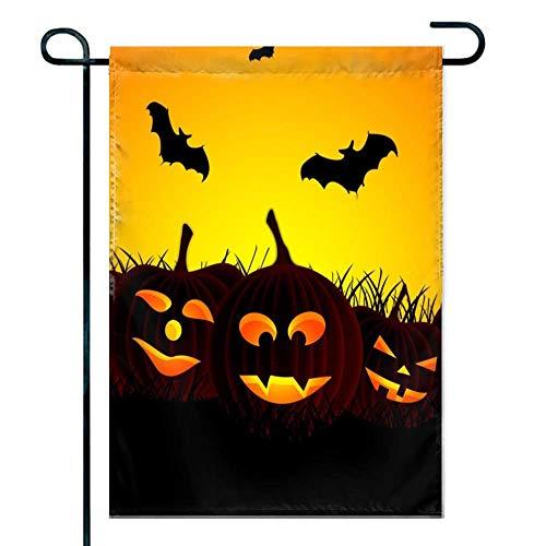 amiuhoun Garden Flag Polyester Outdoor Flag Home Party 12x18(in) - Halloween Hd Wallpapers