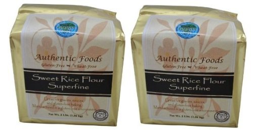 - Authentic Foods Sweet Rice Flour Superfine 3lb 2 Pack
