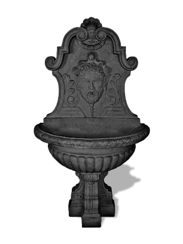 Amedeo Design 1001-14C Asian Wall Fountain, 42 by 72 by 42-Inch, Charcoal