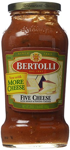 Bertolli Pasta Sauce, Five Cheese, 24 oz
