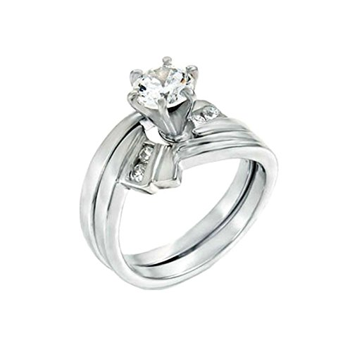 1.25 Carat Round Brilliant Cubic Zirconia Silver Wedding Ring - 6
