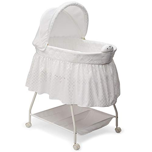 Delta Children Deluxe Sweet Beginnings Bassinet, Turtle Dove ()