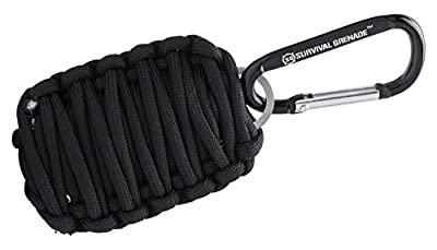 #1 BEST Survival Kit - Survival GRENADE Emergency Key Chain Survival Kit - Paracord Grenade Survival Kit with 8+ Tools + Fire Starter & Eye Knife