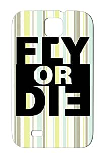 Shock-absorbent Black Fly Or Die Hiphop Hip Hop Rap Music Music Swag Hip Hop For Sumsang Galaxy S4 Case