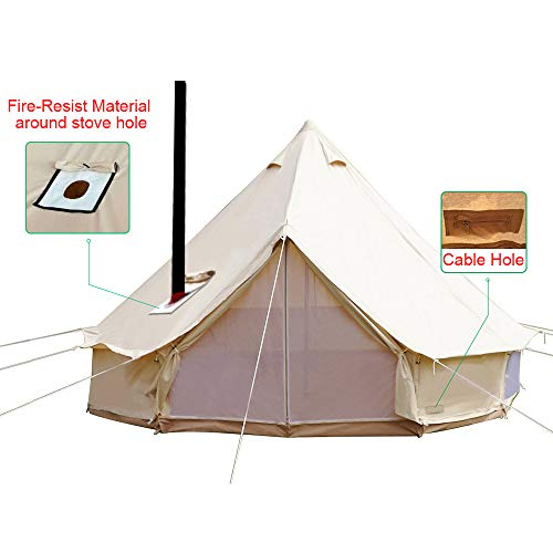 PlayDo 4-Season Waterproof Cotton Canvas Wall Tent Yurts Ten