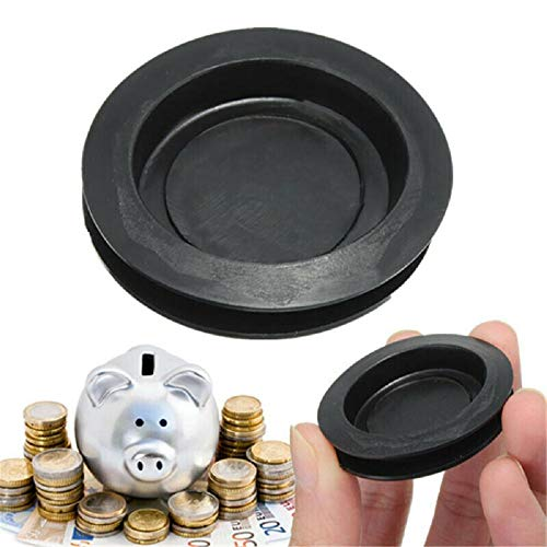 Balance World Inc Rubber Money Saving Box Piggy Bank Closure Plug Stopper Cover OD:43mm ID:33mm