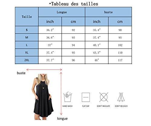 Round Causal Et Longue co Plage Lache Poche Fluide Keerda Gilet s Manches Robe Femme Tunique Longue Col qwzEf0