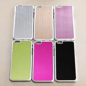 QJM Solid Color Wire Drawing Plastic Cover With for iPhone 6 Case (Assorted Color) , Green