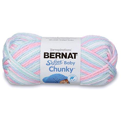 - Bernat 16119797001 Softee Baby Chunky Ombre Yarn - (5) Bulky Chunky Gauge 100% Acrylic - 4.25 oz -   Sweet Dream  -  Machine Wash & Dry
