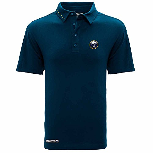Levelwear LEY9R NHL Buffalo Sabres Men's Reign Wordmark Polo, X-Large, Navy (Shirts Mens Sabres Buffalo)