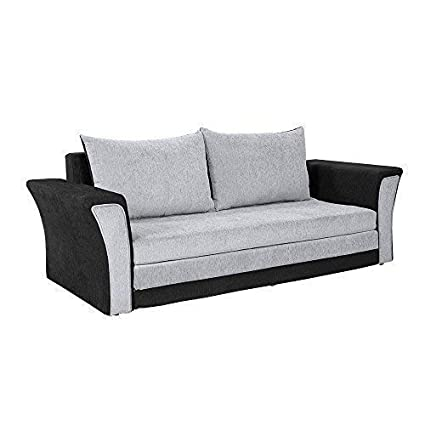 Prime Bharat Lifestyle Wooden Leo Fabric 3 Seater Sofa Cum Bed Black And Grey Download Free Architecture Designs Embacsunscenecom