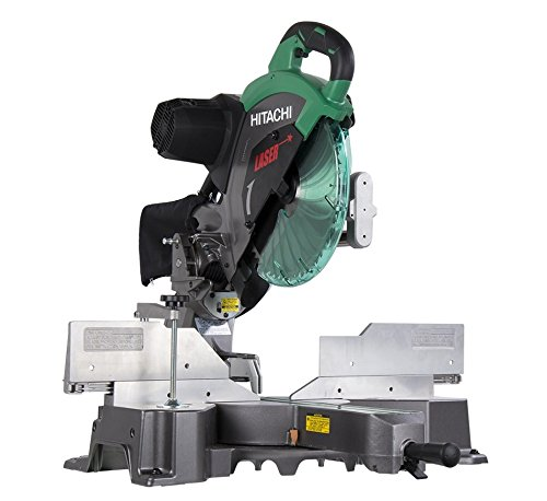 Great Features Of Hitachi C12RSH2 15-Amp 12-Inch Dual Bevel Sliding Compound Miter Saw with Laser Ma...