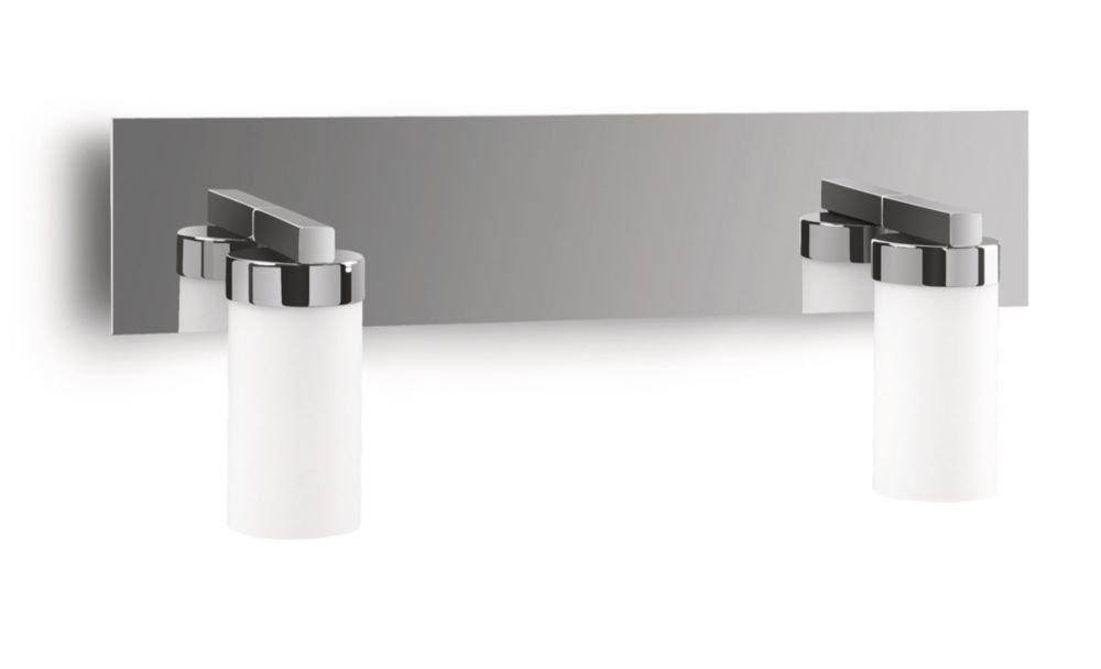 Philips myBathroom Aloe - Aplique para baño con 2 luces, 42 W, IP21, cromo y vidrio [Clase de eficiencia energética D] 915000553705 armario bañoeasy cocina