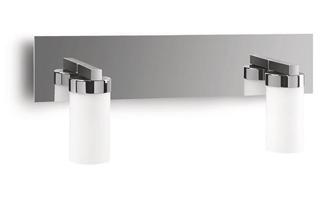 Philips aloe lampada bagno parete cromo 2 cilindri vetro ip44