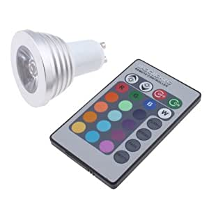 3w gu10 16 colors changing rgb led light bulb with remote everything else. Black Bedroom Furniture Sets. Home Design Ideas