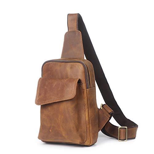 Sac Brown Weatly Pour Brown color Imperméable Retro Bandoulière Cuir Hommes À En OwPAw