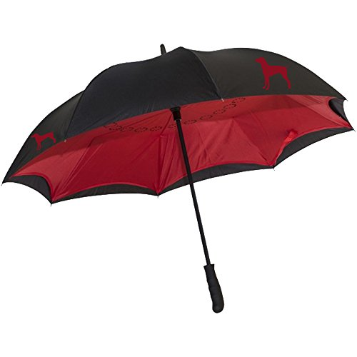 """48"""" Arc Umbrella Reverse Closure withGerman Short-Haired Pointer Silhouette"""
