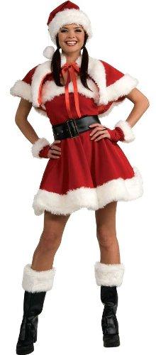 (Velvet Miss Santa Dress Adult Costume -)