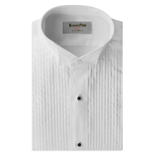 Tuxedo Shirt- Boys White Wing Collar 1/4'' Pleat (BS (Ages 6-8))