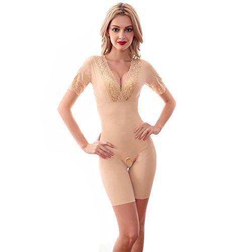 DingMing Women's Underbust Waist Thigh Slimming Bodysuit ...
