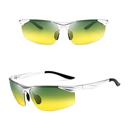 del de de del visión nocturna día y Gafas sol Gafas SSSX noche de sol de la la de Gafas conductor Plata Anti polarizador La sol Anti del Gafas de luz alto los del de Gafas hombres ULTRAVIOLETA de Gafas del la pgq4Hx4
