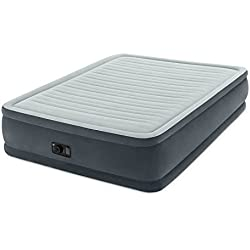 "Intex Comfort Plush Elevated Dura-Beam Airbed with Built-in Electric Pump, Bed Height 18"", Queen"