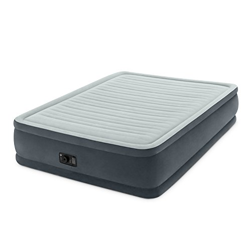 (Intex Comfort Plush Elevated Dura-Beam Airbed with Built-in Electric Pump, Bed Height 18