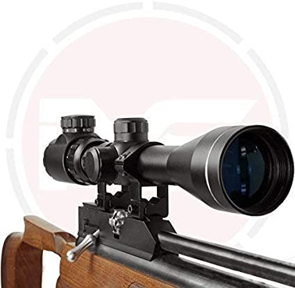 In Your Sights En Tu Monumentos 3-9x40 Rifle Scope con Iluminado Retículo y Monturas/Pistola de Aire Mira - 3-9X40 with 9.5-11mm Soporte