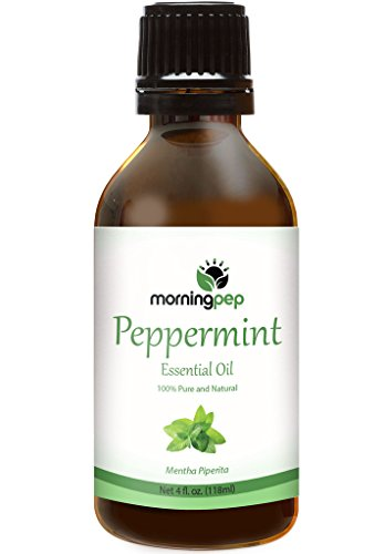Morning Pep PEPPERMINT OIL 4 OZ Large Bottle 100 % Pure And Natural Therapeutic Grade , Undiluted PREMIUM QUALITY Aromatherapy PEPPERMINT Essential oil (118 ML) Happy with Your purchase or Your Money Back.