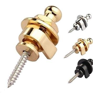 Silver Vimbhzlvigour strumenti musicali professionale strap Lock durevole testa rotonda per chitarre elettriche Parts