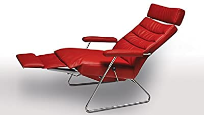 Adele Cherry Leather Adjustable Reclining Chair