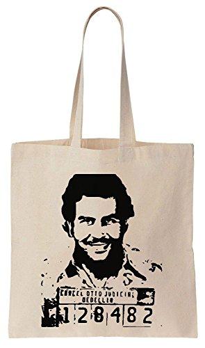 Pablo Escobar Mugshot Sacchetto di cotone tela di canapa
