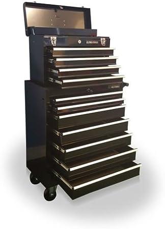 US PRO Tools - Caja de herramientas de acero asequible con 11 ...