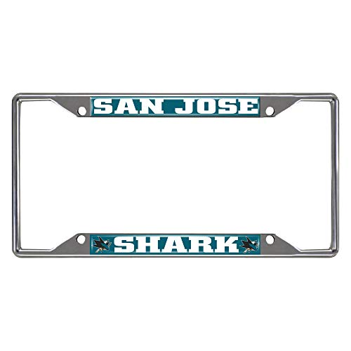FANMATS NHL San Jose Sharks License Plate Framelicense Plate Frame, Team Colors, One Sized ()