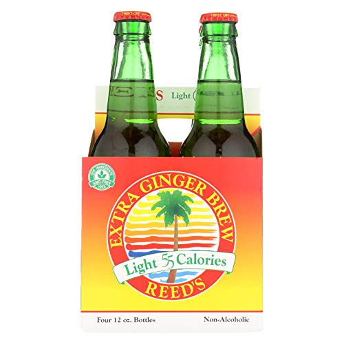 Reeds Light 55 Calories Ginger Brew Drink, 12 Ounce - 4 per pack - 6 packs per ()