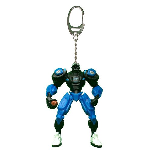 NFL Carolina Panthers Fox Sports Team Robot Key Chain, 3-inches ()