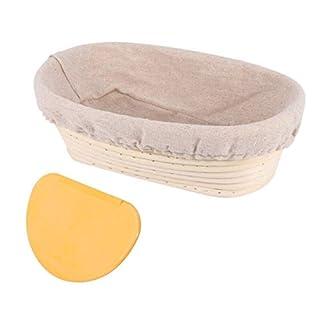 Oval Bread Banneton Proofing Basket - 10 Inch Baskets Sourdough Brotform Proofin