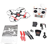 WonderTech Nebula 6-Axis Quadcopter | Built in HD First Person Camera with Wifi Streaming | 2.4 Ghz Remote Control | One-Click Return-to-Home, Throttle Control and More! | W304R Black