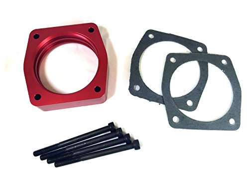 Red Throttle Body Spacer for Nissan Altima Maxima Murano 350z G35 F35 M35 (350z Throttle Body)