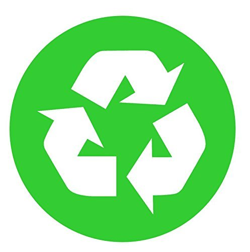 RECYCLE SYMBOL CIRCLE (3 PACK) Full Color Printed Sticker by StickerDad (size: 2