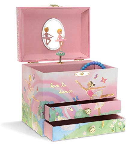 JewelKeeper Large Musical Jewelry Box 2 Drawers
