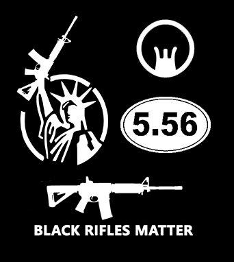 AR-15 2nd Amendment Sticker 4-Pack (0157) (White) (Best Caliber For Ar 15)